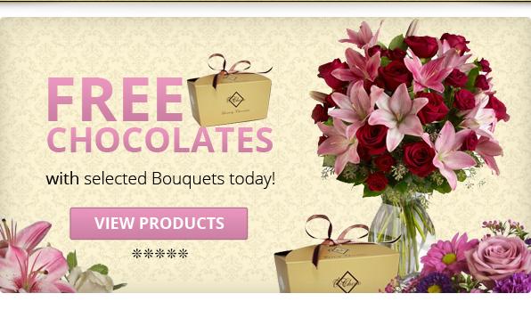 #Free #Chocolates in #Dubai #UAE with your #FlowersAEpurchase!